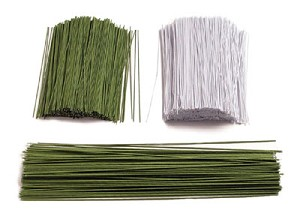 CLOTH COVERED GREEN WIRE  1 Lb