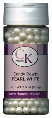 CANDY BEADS 7MM - PEARL WHITE