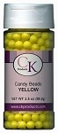 CANDY BEADS 7MM - YELLOW
